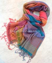 Wool Cotton Jacquard Scarves (EC-4972)