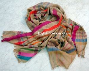 Wool Merino  stripes Scarves EC-4575-A