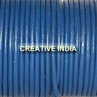Blue Plain Round Leather Cord