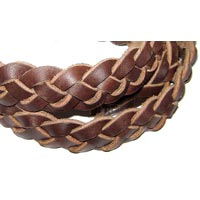 Braided Leather Cord (2cm-3 Plies)