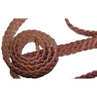 Braided Leather Cord (2cm-6 Plies)