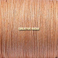 Metallic Color Wax Cotton Cord (501 White Golden)