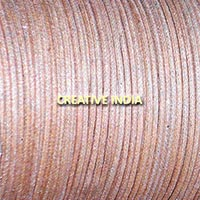 Metallic Color Wax Cotton Cord (504 Natural Silver)