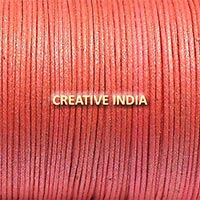 Metallic Color Wax Cotton Cord (517 Pink Golden)