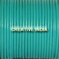 Mint Green Plain Round Leather Cord
