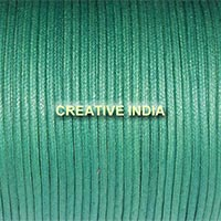Regular Colour Wax Cotton Cord (147 Leaf Green)