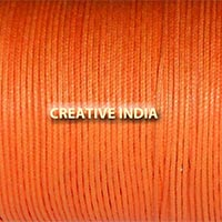 Regular Colour Wax Cotton Cord (Orange)