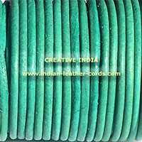 Sea Green Round Leather Cord
