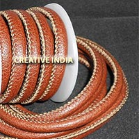 Stitched Round Nappa Leather Cord (C007)
