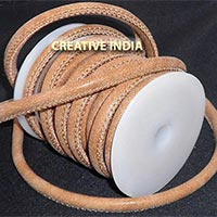 Stitched Round Nappa Leather Cord (C011)