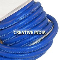 Stitched Round Nappa Leather Cord (C020)