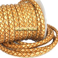 Stitched Round Nappa Leather Cord (C028)