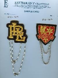 Bullion Wire Badge (ECB-1216-17)