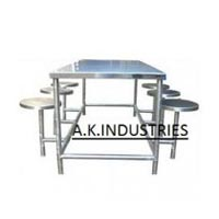 Item Code : AKCT-04 (Canteen table with folding stools)