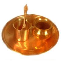Copper Puja Thali