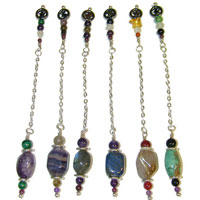 Semi Precious Crystal Pendulams Made in 925 Silver