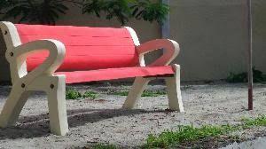 Cement Garden Bench 05