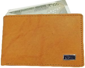 Gentlemen Genuine Leather Stylish Wallets for Men's Tan