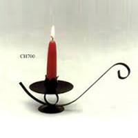 Aladdin Type Wrought Iron Candle Stand