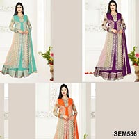 Net and Georgette Floor Touch Anarkali Suit
