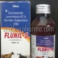 Oxyclozanide + Levamisole + Silymarin Suspension
