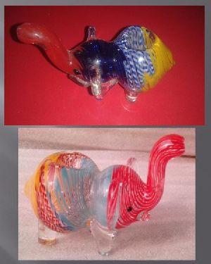 AP001-Glass Elephant Smoking Pipe