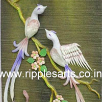 Chinese Birds Porcelain Mural