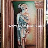 Greek Lady 3D Painting