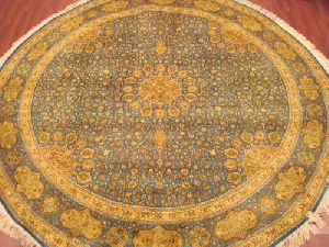 Round Silk On Cotton Carpets