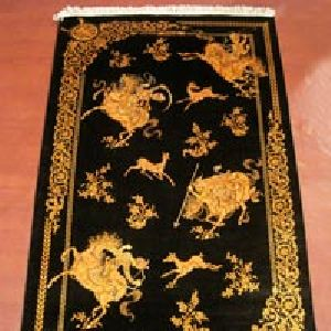 Kashmiri Handmade Silk On Silk Carpets