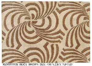 Hand Tufted New Zealand Blended Woolen Carpets & Rugs 43