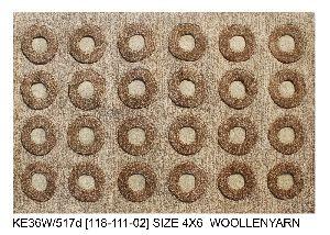 KE36W/517d (118-111-02) Woolen Yarn Hand Tufted Woolen Carpets & Rugs