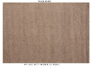 Hand Woven Semi Worsted New Zealand Wool Dhurrie 04
