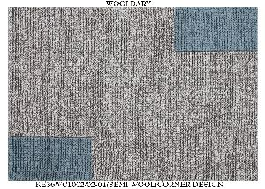 Hand Woven Semi Worsted New Zealand Wool Dhurrie 06