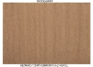 Hand Woven Semi Worsted New Zealand Wool Dhurrie 08