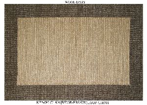 Hand Woven Semi Worsted New Zealand Wool Dhurrie 11