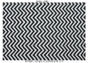 Hand Woven Semi Worsted New Zealand Wool Dhurrie 13