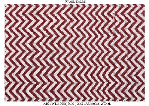 Hand Woven Semi Worsted New Zealand Wool Dhurrie 21
