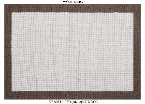 Hand Woven Semi Worsted New Zealand Wool Dhurrie 23