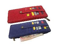 Leather Card Case (CH-778-Red-Blue)