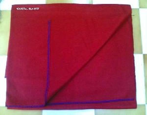 Red Wool Hospital blankets