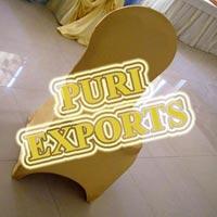 Golden Lycra Chair Cover