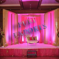 Pink Color Backdrop with Bamboo