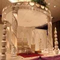 Wedding Carved with Rope Mandap