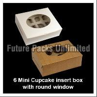6 Mini Cupcake Boxes