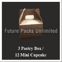 Brown Cake Box With Handle 02