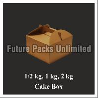 Brown Cake Box With Handle 03