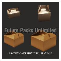 Brown Cake Box With Handle 04