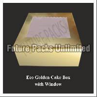 Eco Golden Cake Box With Window