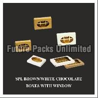 Special White & Brown Choclate Box With Window